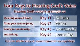 4 Keys to Hearing God's Voice Cards (100-pack)