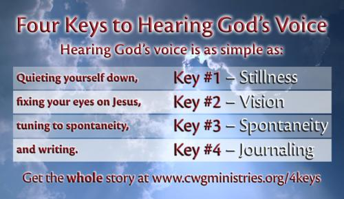 4 Keys To Hearing God's Voice Card