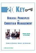 Twenty Key Biblical Principles for Management