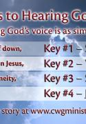 4 Keys to Hearing God's Voice Cards